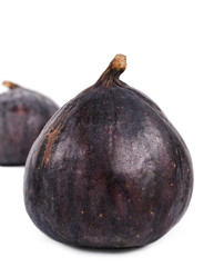 Two delicious ripe purple fresh figs