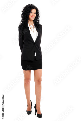Young full length businesswoman