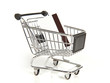 Shopping cart with credit card