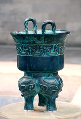 Bronze ancient container