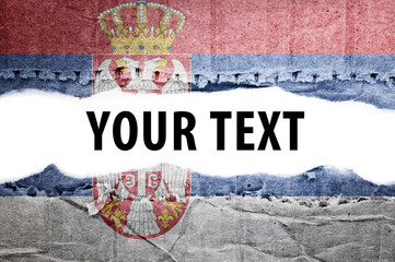 Serbia flag with text space.