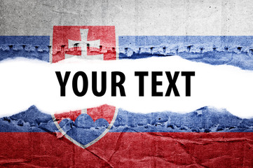 Slovakia flag with text space.