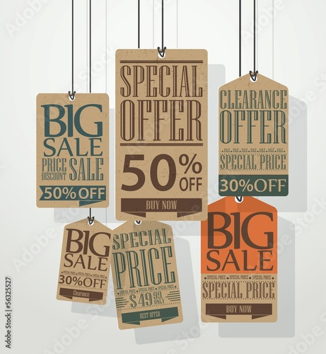 Vintage sale tags design