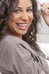 Beautiful Happy Hispanic Woman Smiling