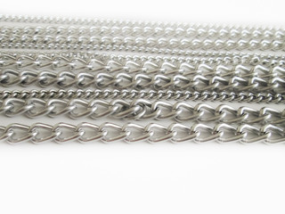 Metal chains jewelry