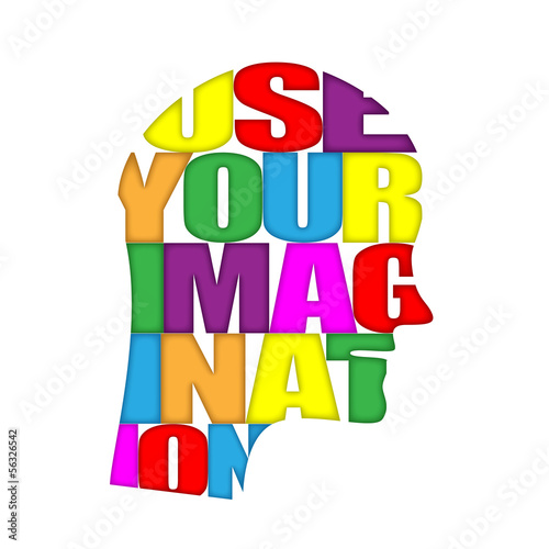 """USE YOUR IMAGINATION"" Icon (ideas teamwork creativity dreams)"