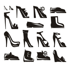 Shoes icons Vector Format