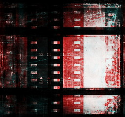 grunge film strip frame background and texture
