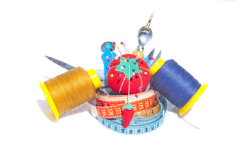 Three Measuring Tapes With Sewing Accessories