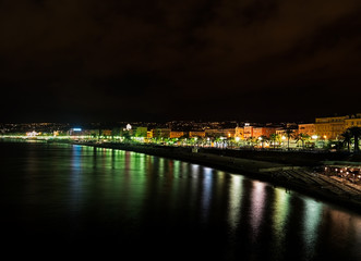 Nice, France - Promenade des Anglais by night