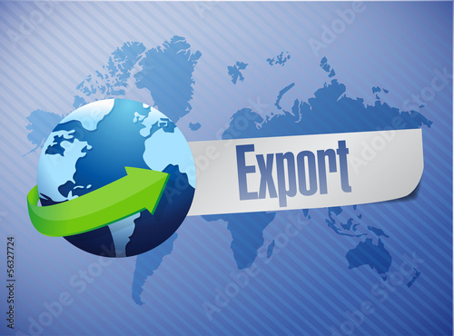 export world map illustration design