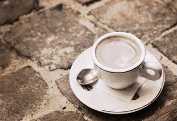 artwork  in retro style, coffee