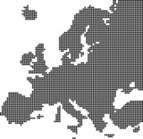 Dotted map of Europe
