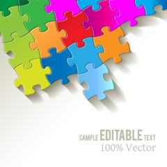 Puzzle Hintergrund Textur Puzzlestücke Bunt