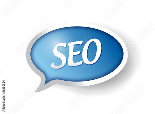 seo message bubble illustration design