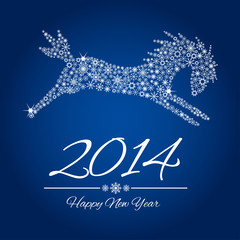 New Year symbol of horse