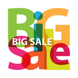 Vector Big Sale. Broken text
