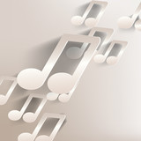 paper background with music web icon,flat design