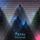 Abstract Christmas background with Christmas tree