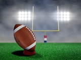 Football Free Kick with Spotlights and Smokes