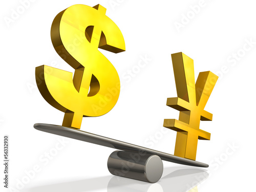 Abstract illustration that represents the exchange rate