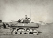Leinwanddruck Bild - Old American tank