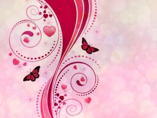 Pink swirl ornament