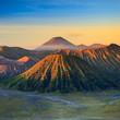 Bromo Volcano Mountain in Tengger Semeru National Park at sunris