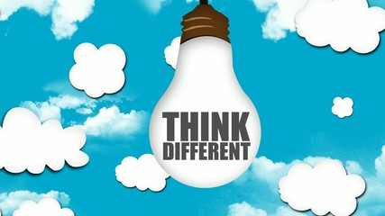 Think Different be Creative Looping animation