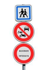 Interdictions sur un chemin de grande randonnée