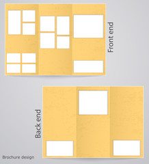 Layout tri-fold brochures