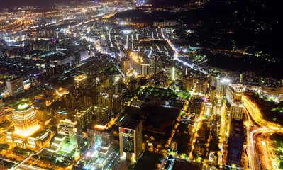 Taiwan city at night