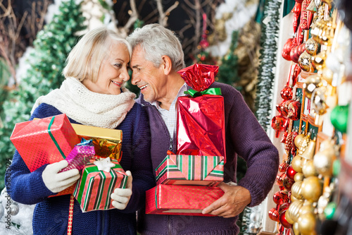 Romantic Couple In Christmas Store