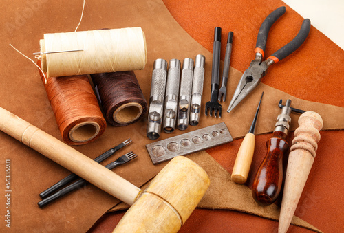 Handmade leather craft tool