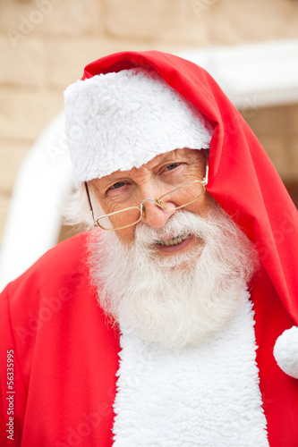 Senior Man Dressed As Santa Claus