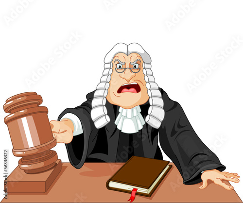 Judge with gavel - 56336322
