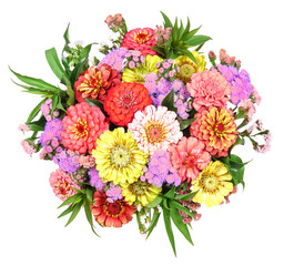 Colored garden bouquet