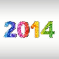 Colorful New year 2014