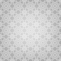 Abstract pattern with snowflakes