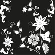 Abstract Black&White Flower Vector