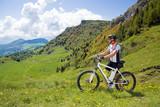 Fototapety e-bike, pedelec, man, fahrrad, mountainbike, gebirge