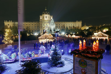 Weihnachtsmarkt Wien Maria-Theresien-Platz