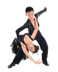 Couple Latin dancers