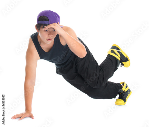 Asian hip hop dancer