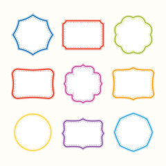 Colorful frames. Vector set.