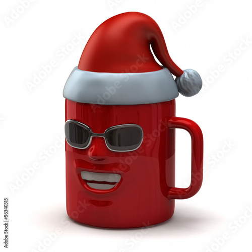 Fun mug  with Santa Claus hat