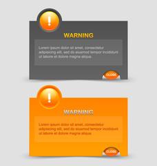 Warning notification windows