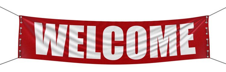 Welcome Banner (clipping path included)