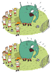 Soccer Elephant Differences Visual Game