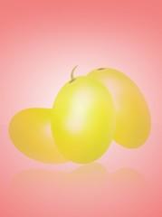 uva su sfondo rosa